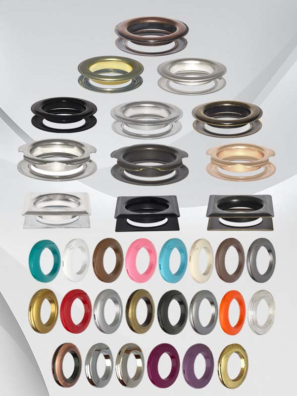 Galvanized Iron and Brass Material Curtain Grommets